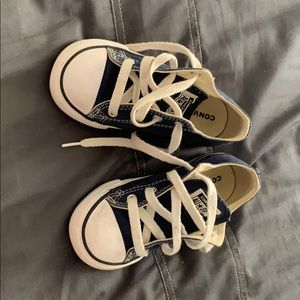 Navy converse shoes